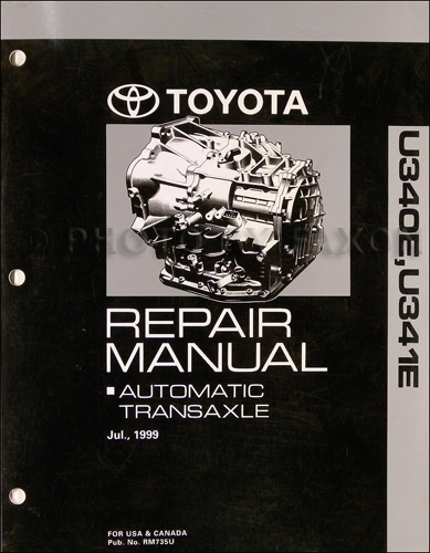 2000-2006 Celica, Echo, Xa, Xb Automatic Transmission Repair Shop Manual