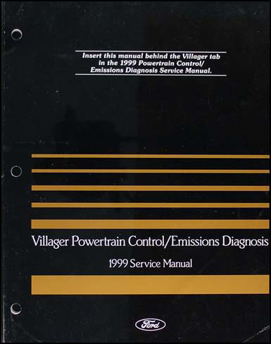 1999 Mercury Villager Engine & Emissions Diagnosis Manual