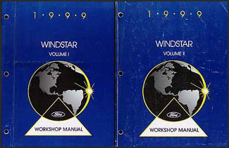 1999 Ford Windstar Repair Manual 2 Volume Set Original