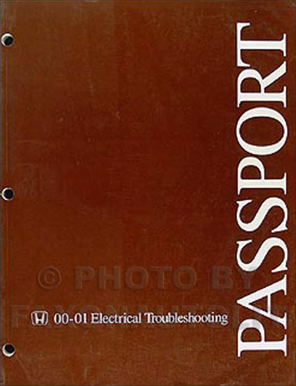 2000-2001 Honda Passport Electrical Troubleshooting Manual Original