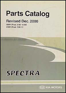 2000-2001 Kia Spectra Parts Book Original
