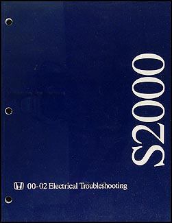 2000-2002 Honda S2000 Electrical Troubleshooting Manual Original