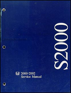 2000-2002 Honda S2000 Repair Manual Original