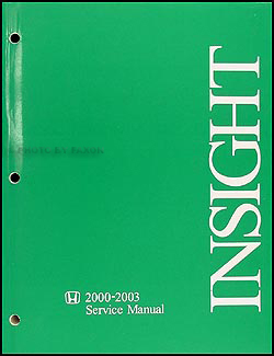 2000-2003 Honda Insight Repair Manual Original