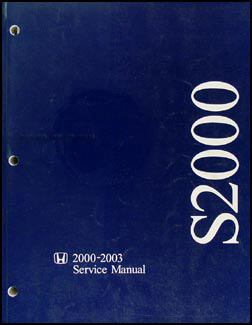2000-2003 Honda S2000 Repair Manual Original