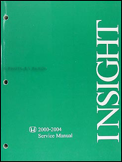 2000-2004 Honda Insight Hybrid Repair Manual Original