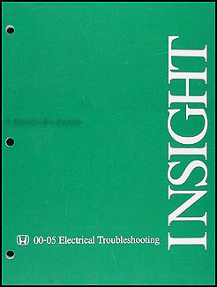 2000-2005 Honda Insight Electrical Troubleshooting Manual Original