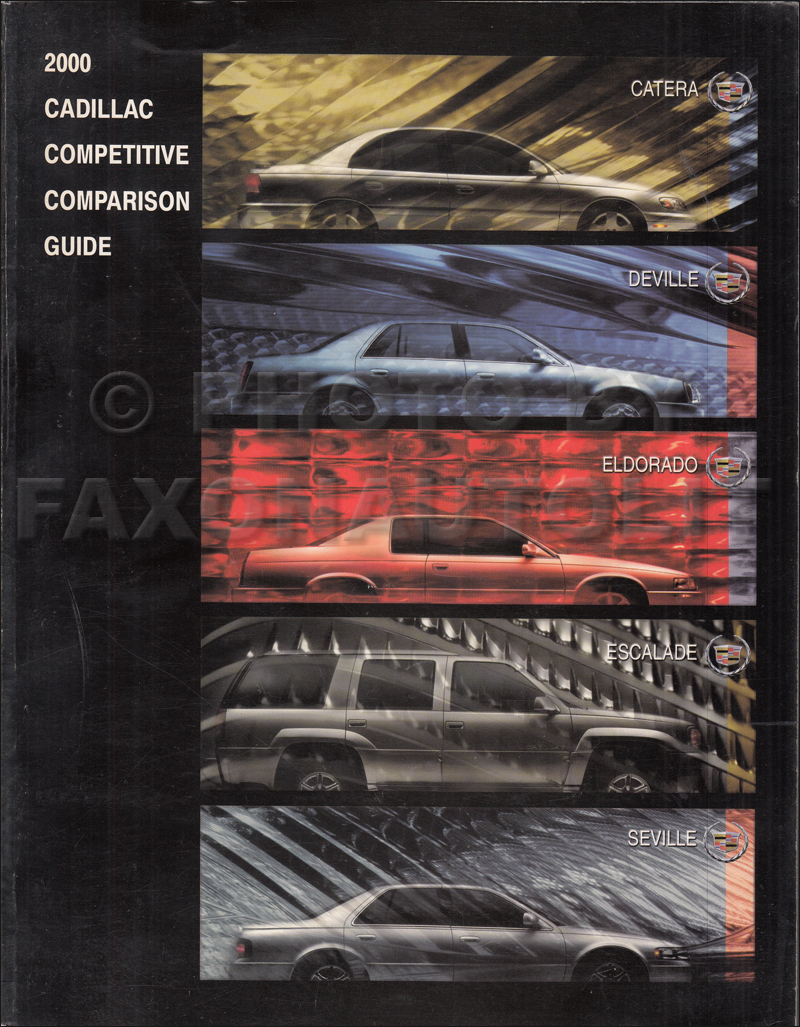 2000 Cadillac Competitive Comparison Guide Original Dealer Album