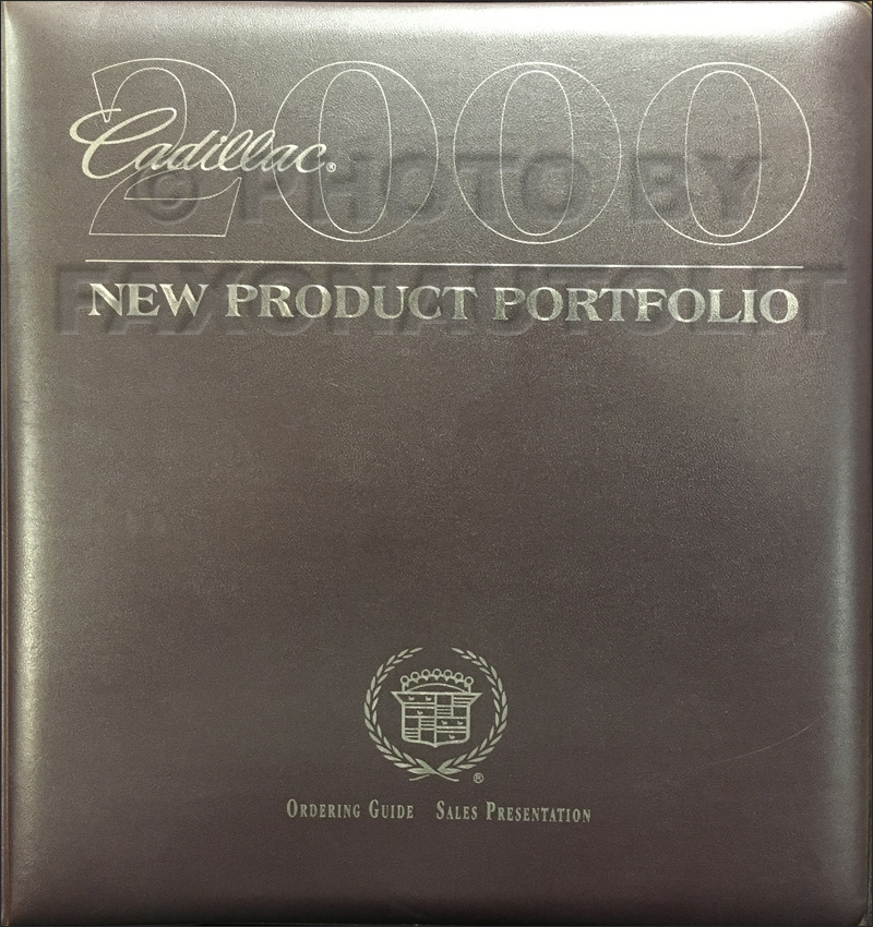 2000 Cadillac Product Portfolio - Data Book and Color & Upholstery Album