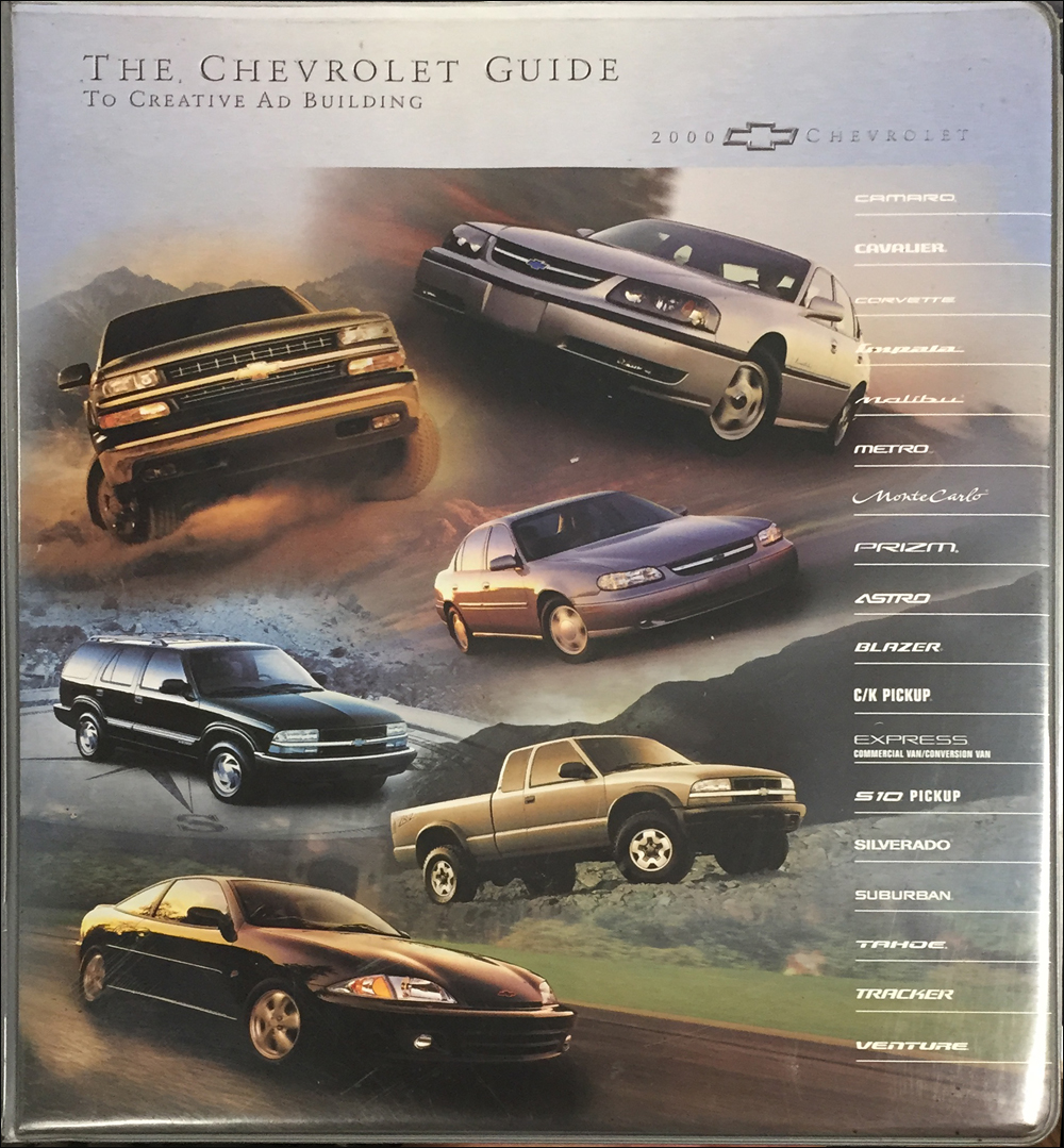 2000 Chevrolet Dealer Advertising Planner Original