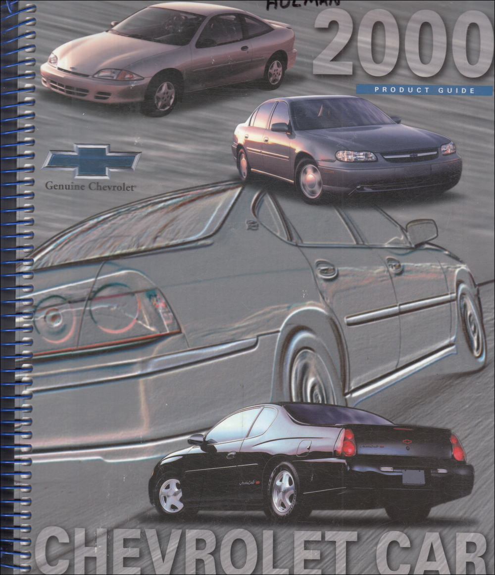 2000 Chevrolet Car Data Book Dealer Album with Color and Upholstery Original