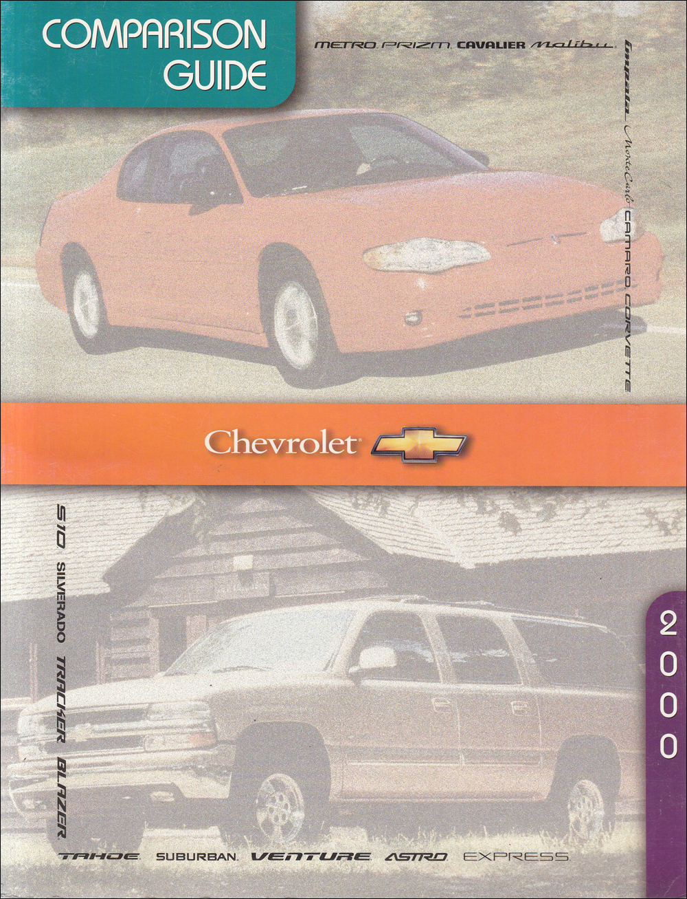 2000 Chevrolet Competitive Comparison Dealer Album Original