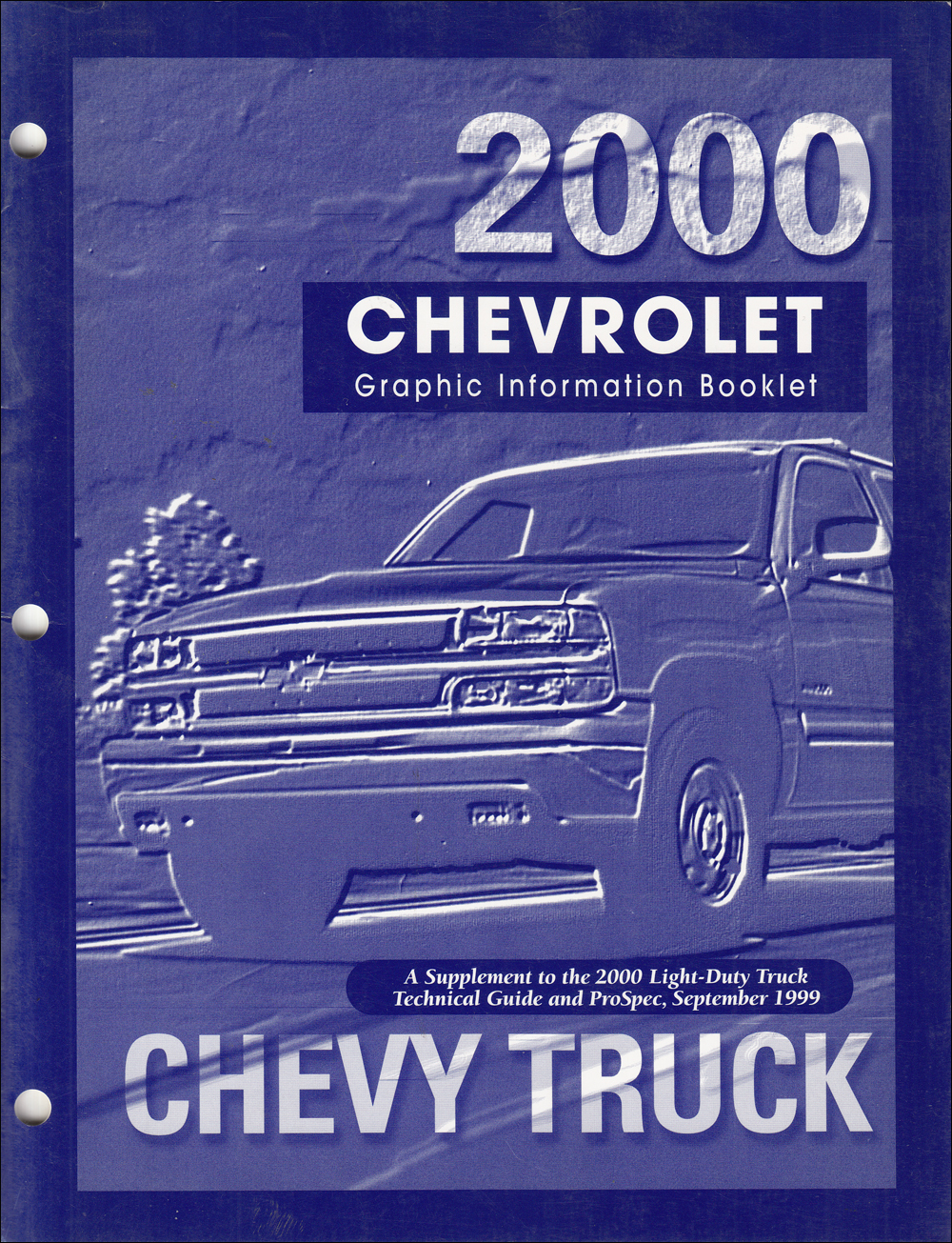 2000 Chevrolet Truck Graphic Booklet Original Dealer Album Supplement