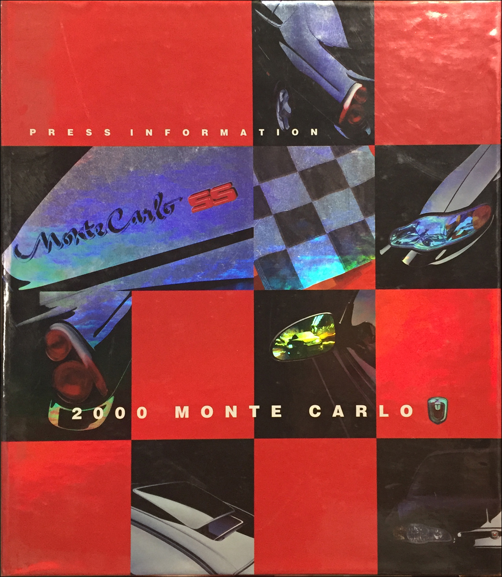2000 Chevrolet Monte Carlo Press Kit Original