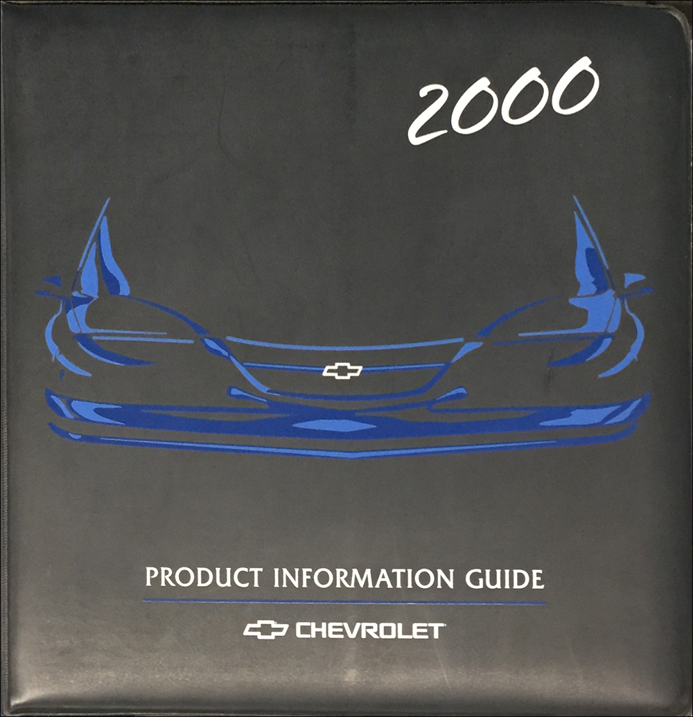 2000 Chevrolet Technical Press Kit Original