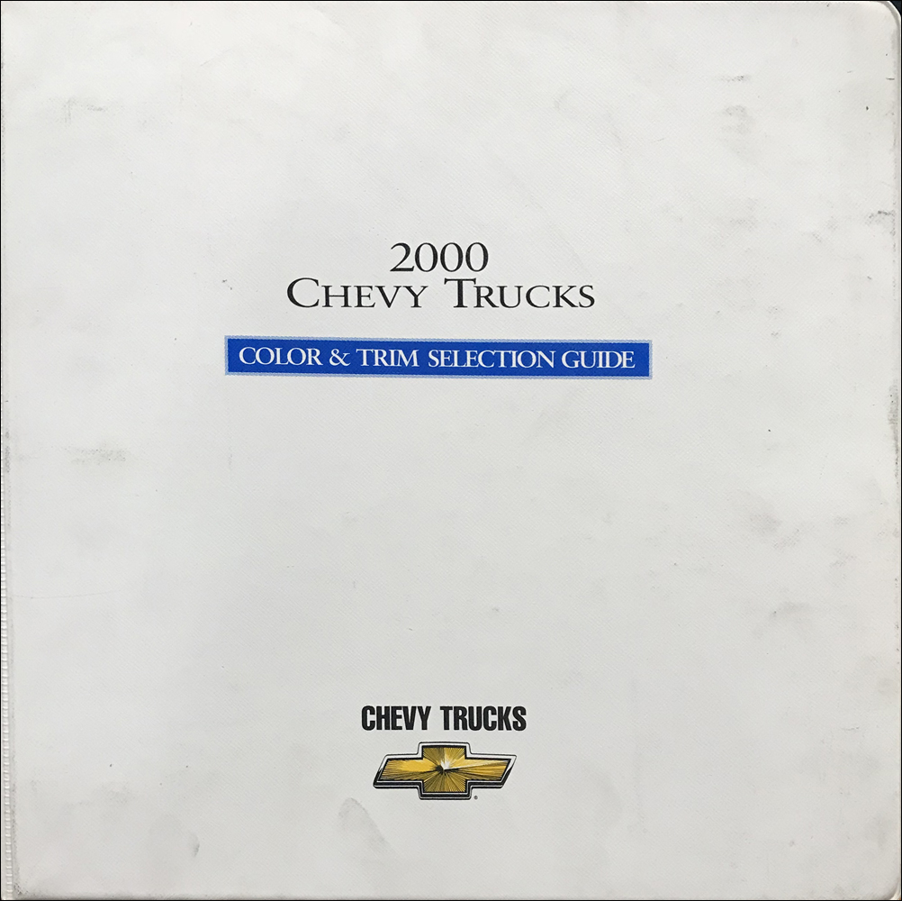 2000 Chevrolet Truck Color and Upholstery Dealer Album Original