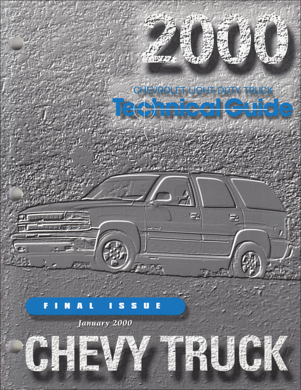 2000 Chevrolet Truck Technical Guide Dealer Album Original Final Issue