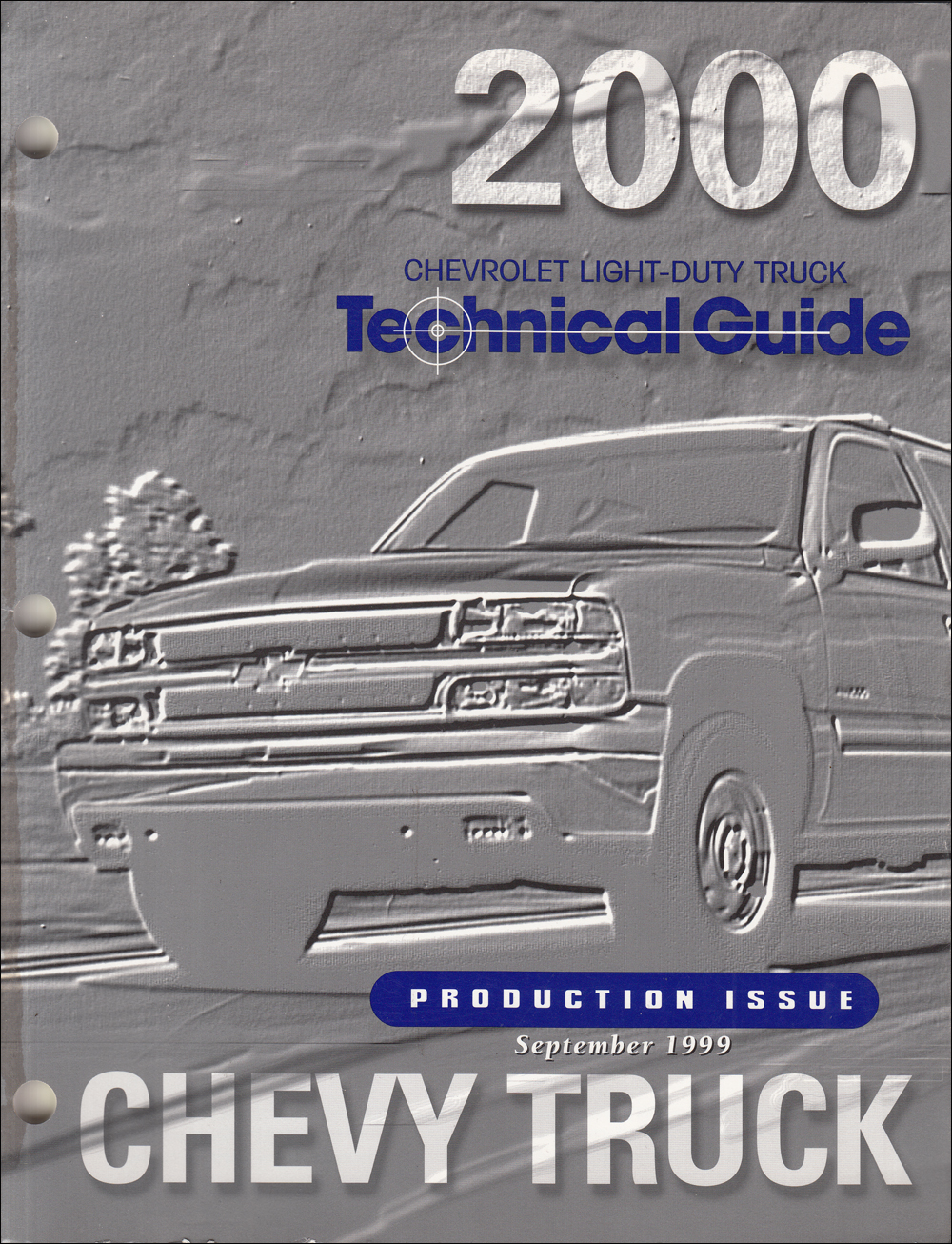 2000 Chevrolet Truck Technical Guide Dealer Album Original Production Issue