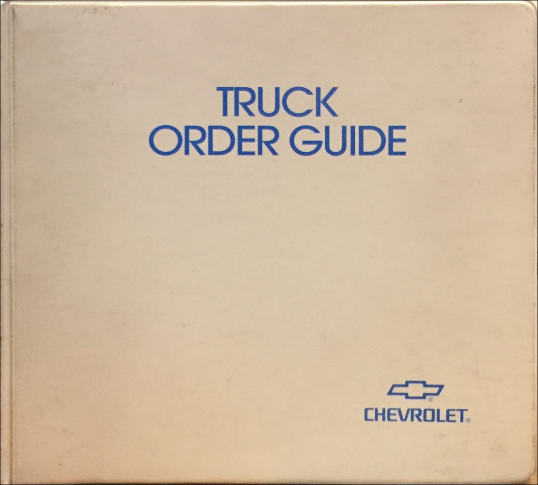 2000 Chevrolet Truck Order Guide Original