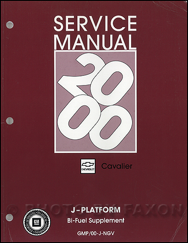 2000 Cavalier Bi-Fuel Repair Shop Manual Original Supplement