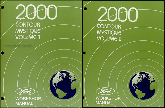 2000 Ford Contour & Mercury Mystique Shop Manual Original 2 Volume Set