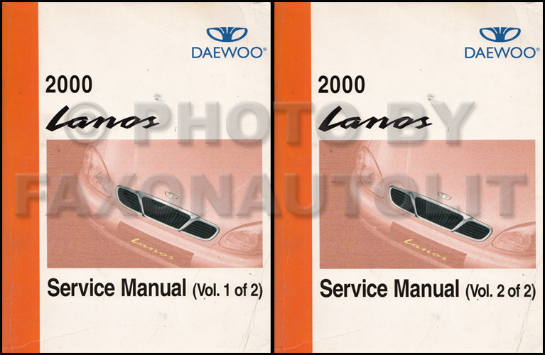 2000 Daewoo Lanos Repair Shop Manual Original 2 Volume Set