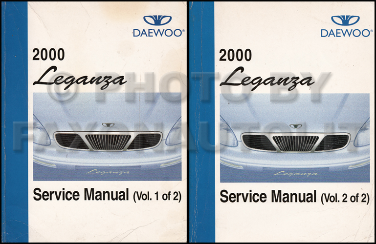 2000 Daewoo Leganza Repair Shop Manual Original 2 Volume Set