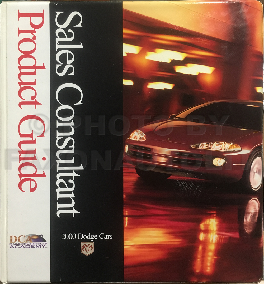 2000 Dodge Car Sales Consultant Product Guide Original
