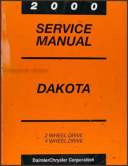 2000 Dodge Dakota Repair Manual Original