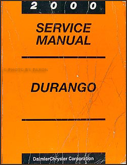 2000 Dodge Durango Repair Manual Original