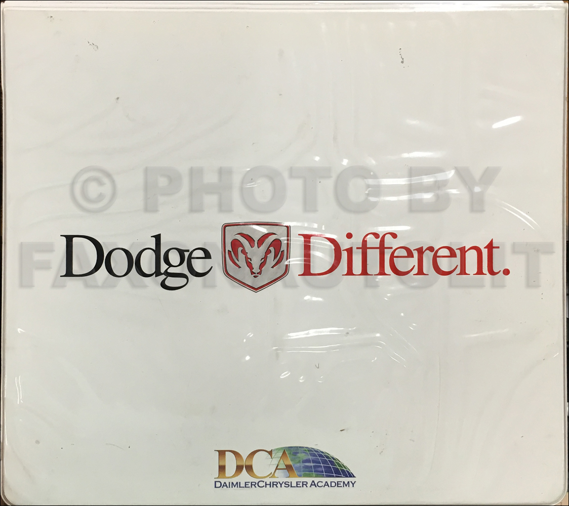 2000 Dodge Sales Training Album Original