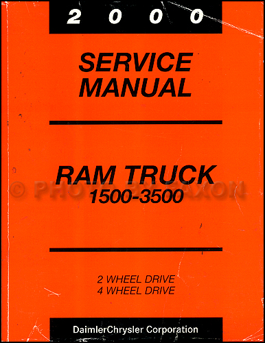 2000 Dodge Ram Truck Shop Manual Original 1500-2500-3500