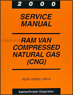 2000 Dodge Ram Van Compressed Natural Gas Repair Shop Manual Supplement
