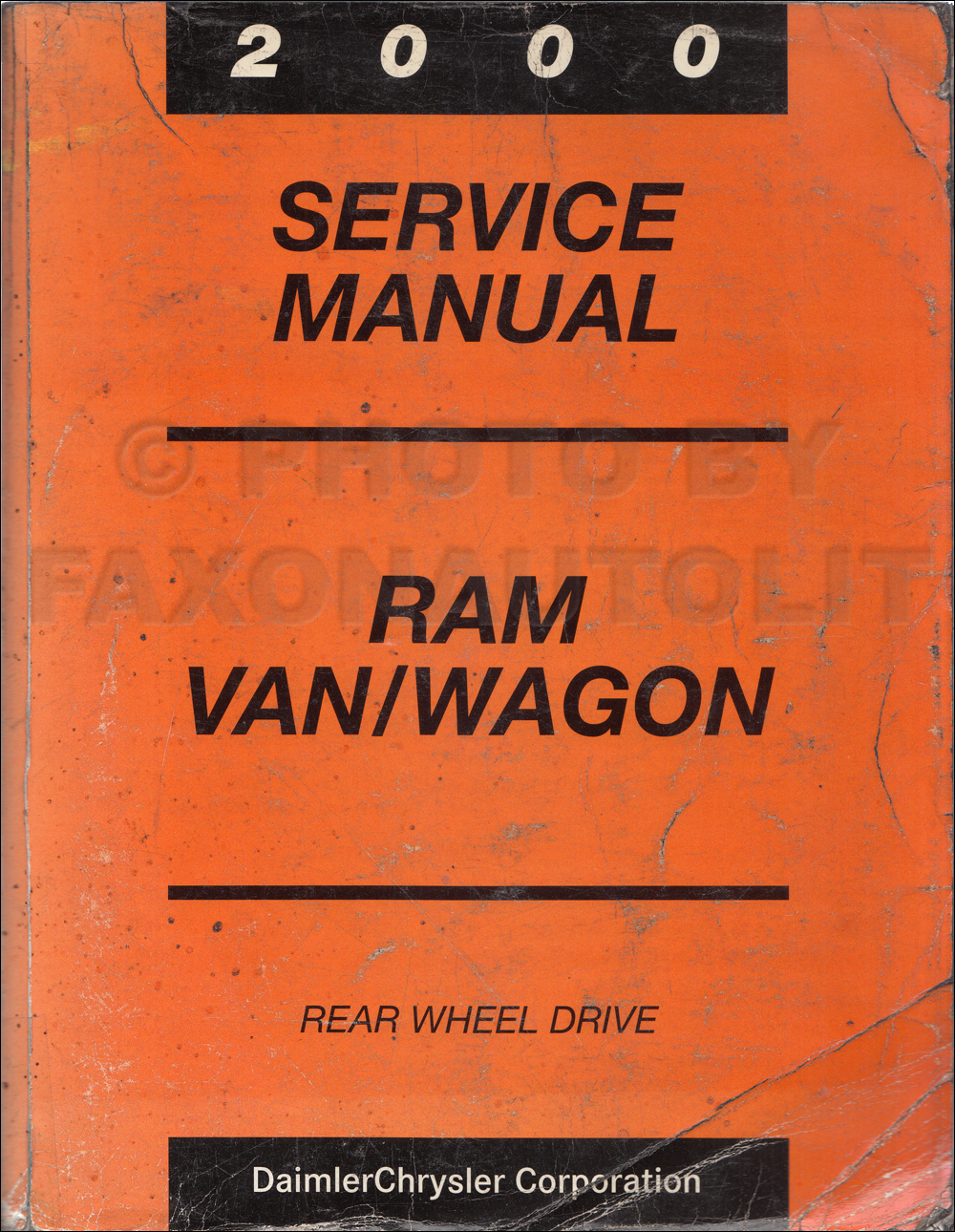 2000 Dodge Ram Van & Wagon Shop Manual Original B1500-B3500
