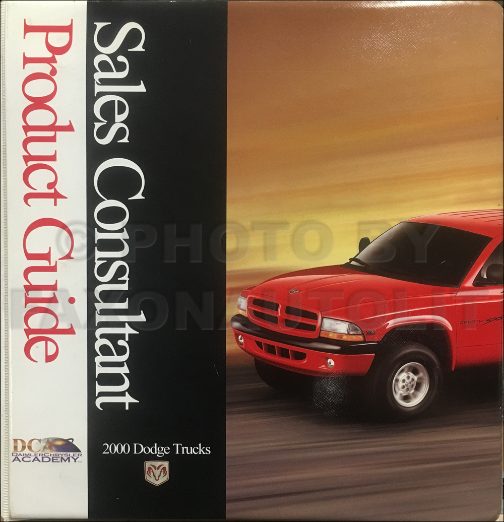 2000 Dodge Truck Sales Consultant Product Guide Original
