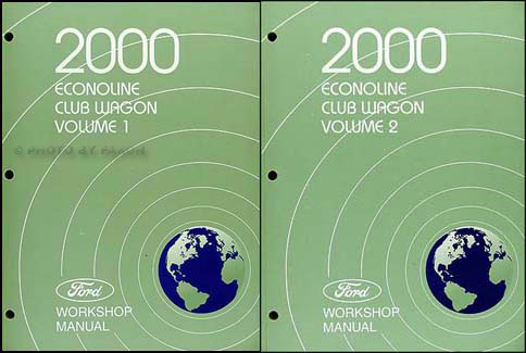 2000 Ford Econoline Van and Club Wagon Repair Shop Manual Set of 2 Original