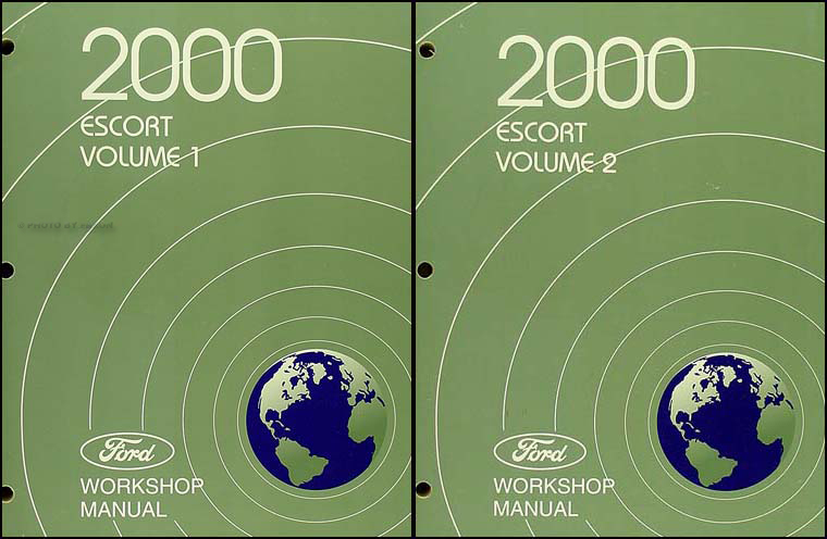 2000 Ford Escort & ZX-2 Repair Manual 2 Volume Set Original
