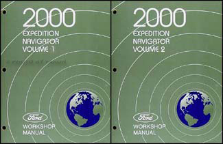 2000 Ford Expedition and Lincoln Navigator Repair Shop Manual Original Set