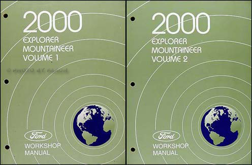2000 Explorer and Mountaineer Repair Manual Original 2 Volume Set