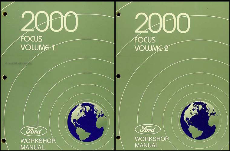 2000 Ford Focus Shop Manual 2 Volume Set Original