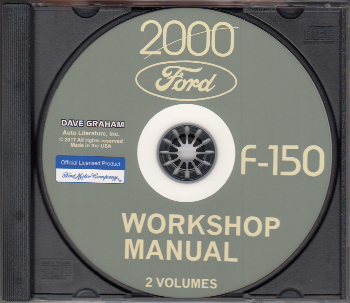 2000 Ford F-150 Pickup Truck Repair Shop Manual on CD-ROM Original