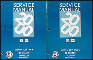 2000 Chevy GMC B7 Bus Chassis Repair Manual Original 2 Volume Set