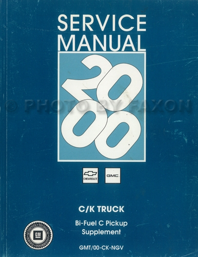 1997-1998 GM CK Bi-Fuel Pickup Shop Manual Original Supplement