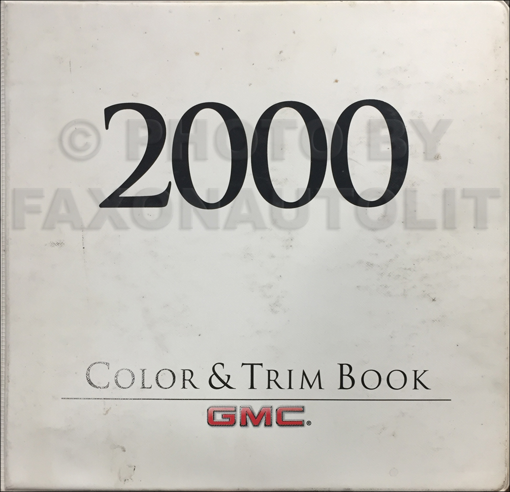 2000 GMC Light Duty Color & Upholstery Dealer Album Original
