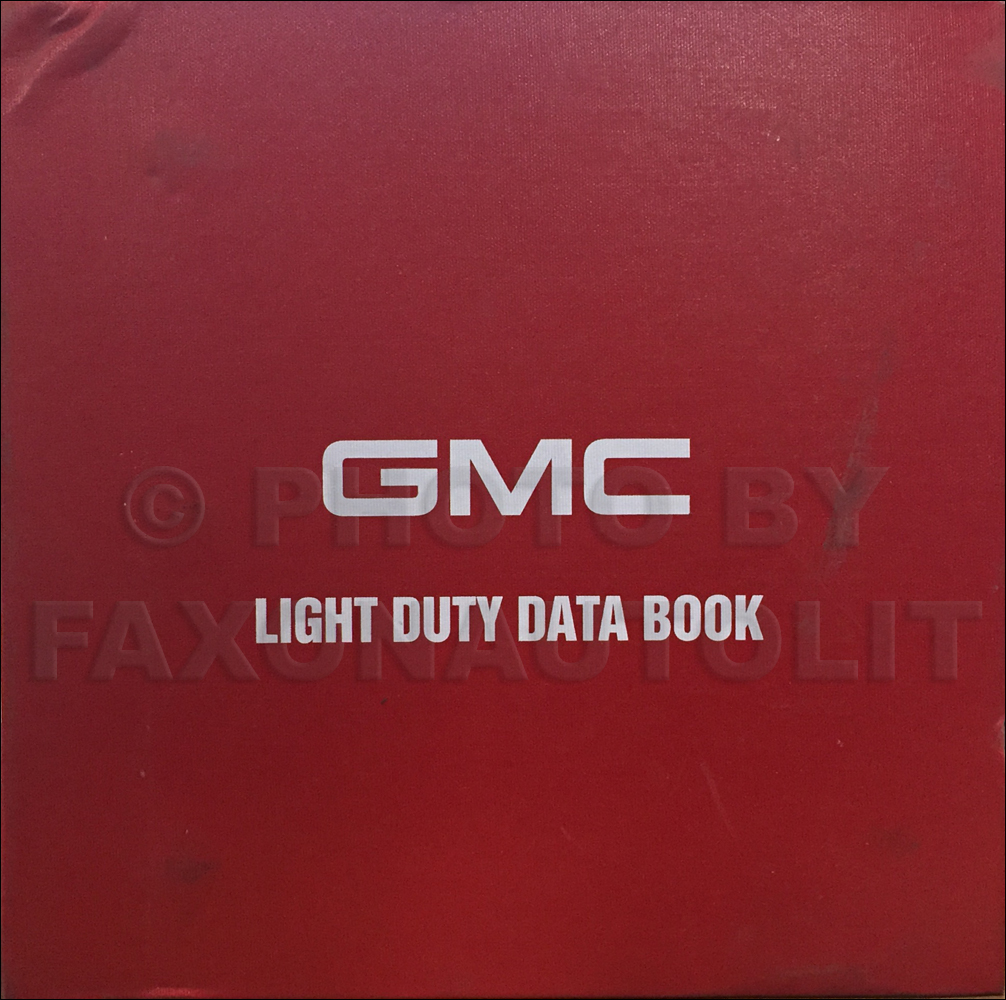2000 GMC Light Duty Data Book Original