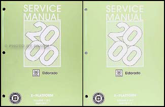 2000 Cadillac Eldorado Repair Manual Original 2 Volume Set