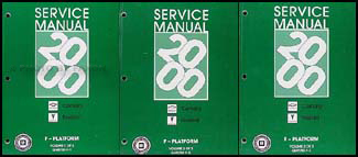 2000 Camaro, Firebird, & Trans Am Repair Manual Original 3 Volume Set