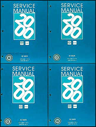 2000 Express and Savana Repair Manual 4 Volume Set Original