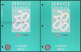 2000 Buick Le Sabre Repair Manual Original 2 Volume Set
