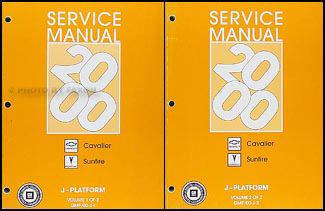 2000 Cavalier & Sunfire Repair Manual Original 2 Volume Set